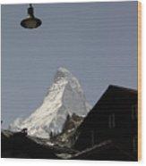 View Of The Matterhorn From Zermat Switzerland Wood Print