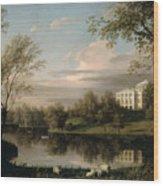 View Of The Pavlovsk Palace Wood Print by Carl Ferdinand von Kugelgen