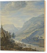View Of The Rhine River Near Reineck Wood Print
