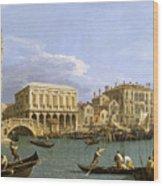 View Of The Riva Degli Schiavoni. Venice Wood Print