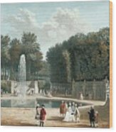 View Of The Tuileries Garden Wood Print