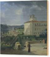 View Of The Villa Medici In Rome Wood Print