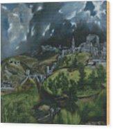 View Of Toledo Wood Print
