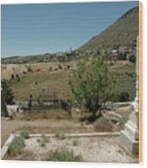View Of Virginia City Nv From The Final Resting Place Wood Print