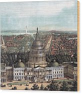 View Of Washington Dc Wood Print