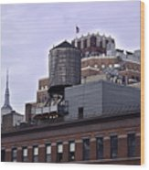 View Of Water Tank From High Line Park Wood Print