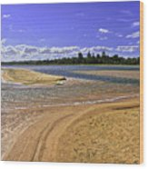 View Of Wollumboola Lake From Sand Dunes Wood Print