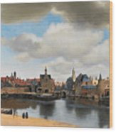 View On Delft Wood Print
