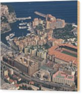 View On Monte Carlo On French Riviera Wood Print