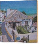 View On Obidos Wood Print