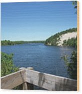 View On The Au Sable Wood Print