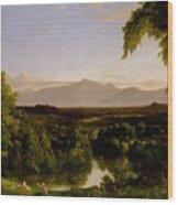 View On The Catskill Wood Print