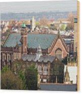 View Over Bristol With Bristol Grammar School Wood Print
