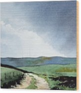 View Over Pole Moor Wood Print