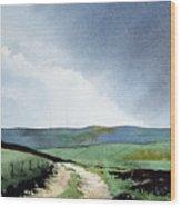 View Over Pole Moor Wood Print