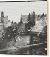 View Over Rooftops In Amsterdam  George Hendrik Breitner  C  1890    . 1910 Wood Print