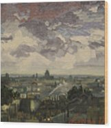 View Over Rooftops Of Paris Wood Print