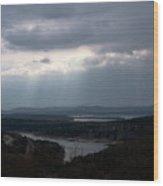 View Over Table Rock Lake Wood Print