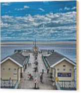 View Over The Pier Wood Print