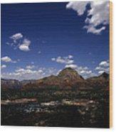 View Overlooking Sedona, Arizona Wood Print