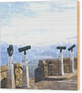 View The Columbia At The Vista House Wood Print