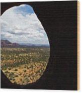 View Through A Portal, Sedona, Arizona Wood Print