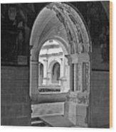 View Through An Arch Wood Print