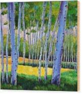 View Through Aspen Wood Print