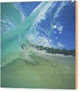 View Through Wave Wood Print