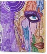 View Thru The Paint Wood Print