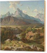 View To Watzmann And Hochkalter Wood Print