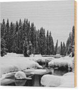 View Upriver Wood Print