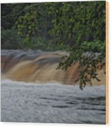 Viewing Tahquamenon Lower Falls Upper Peninsula Michigan 02 Wood Print