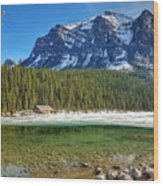 Views From Lake Louise Alberta  Wood Print