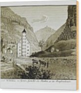 Views Of Switzerland And The Border Of Italy Wood Print
