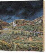 Vigne Nella Notte Wood Print