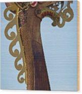 Viking Ship Dragon Head Wood Print