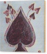 Vikings Ace Of Spades Wood Print