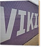 Vikings Banner Wood Print