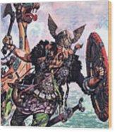 Vikings Wood Print