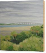Vilano Bridge Wood Print