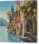 Villa Balbianello Lake Como Wood Print