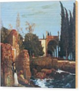 Villa By The Sea 1878 Wood Print