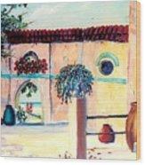 Villa De Azul Wood Print
