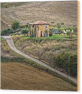 Villa In Tuscany, Italy Wood Print