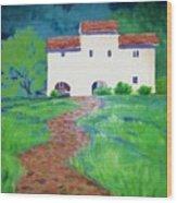 Villa In Tuscany Wood Print