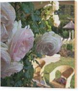 Villa Roses Wood Print
