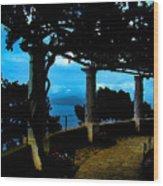Villa San Michele At Anacapri, Italy - Painting Wood Print