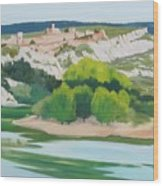 Village Above L'ardeche  Wood Print