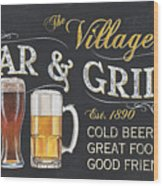 Village Bar And Grill Wood Print